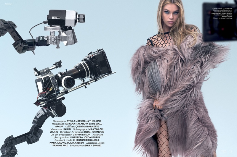 Posing for the cameras, Stella Maxwell wears glamorous looks for the editorial