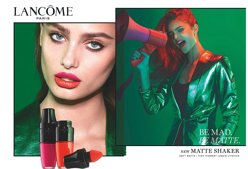 Taylor Hill fronts Lancome's Matte Shaker campaign