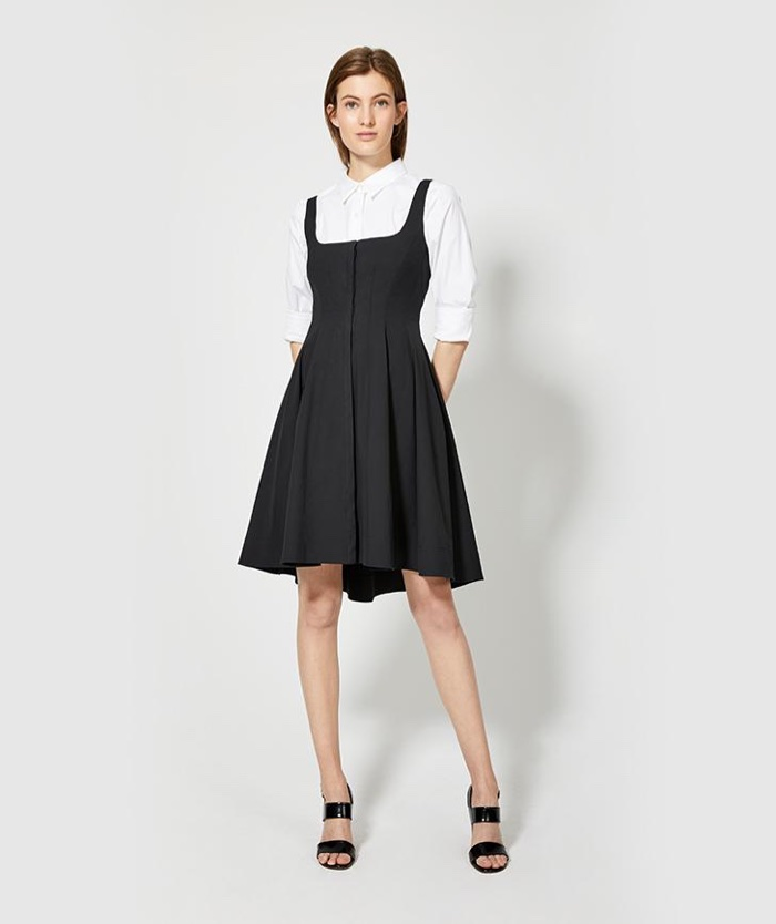 Theory Modern Flare Dress and Classic Shirt