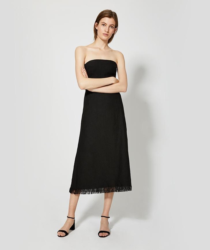 Theory Strapless Knot Dress