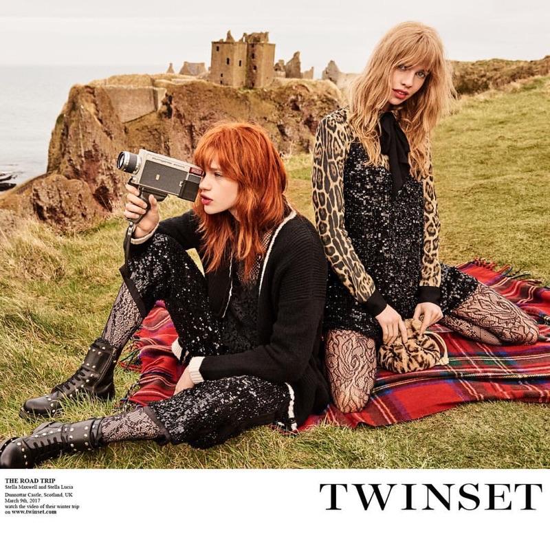 Stella Maxwell & Stella Lucia Pose in Scotland for Twinset's Fall 2017 Campaign