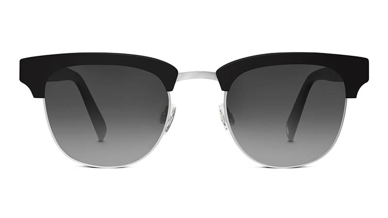 Warby Parker Hayes Sunglasses in Jet Black with Grey Gradient Lenses $145