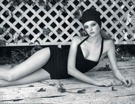 Willow Hand Models Vintage Inspired Swimsuits in Vogue Ukraine
