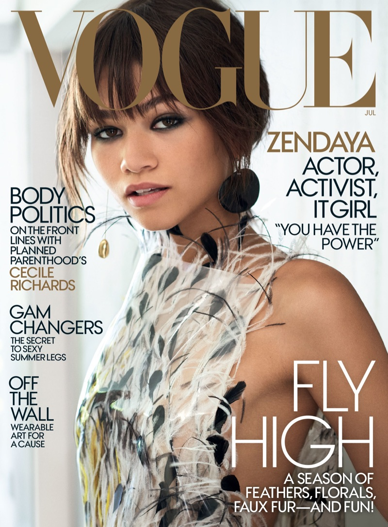 Zendaya on Vogue Magazine July 2017 Cover