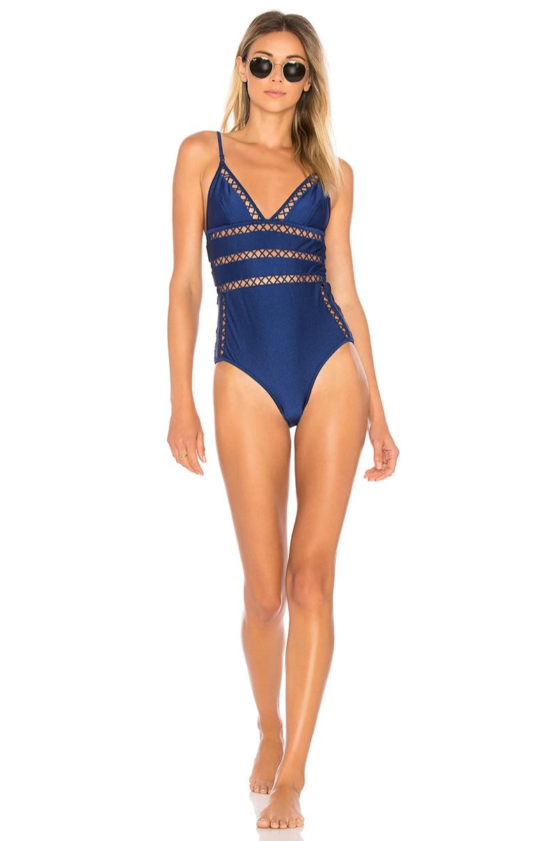 Zimmermann Paradiso Lattice One Piece Swimsuit $375