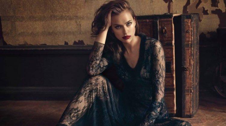 Irina Shayk Smolders in Blumarine's Fall 2017 Campaign