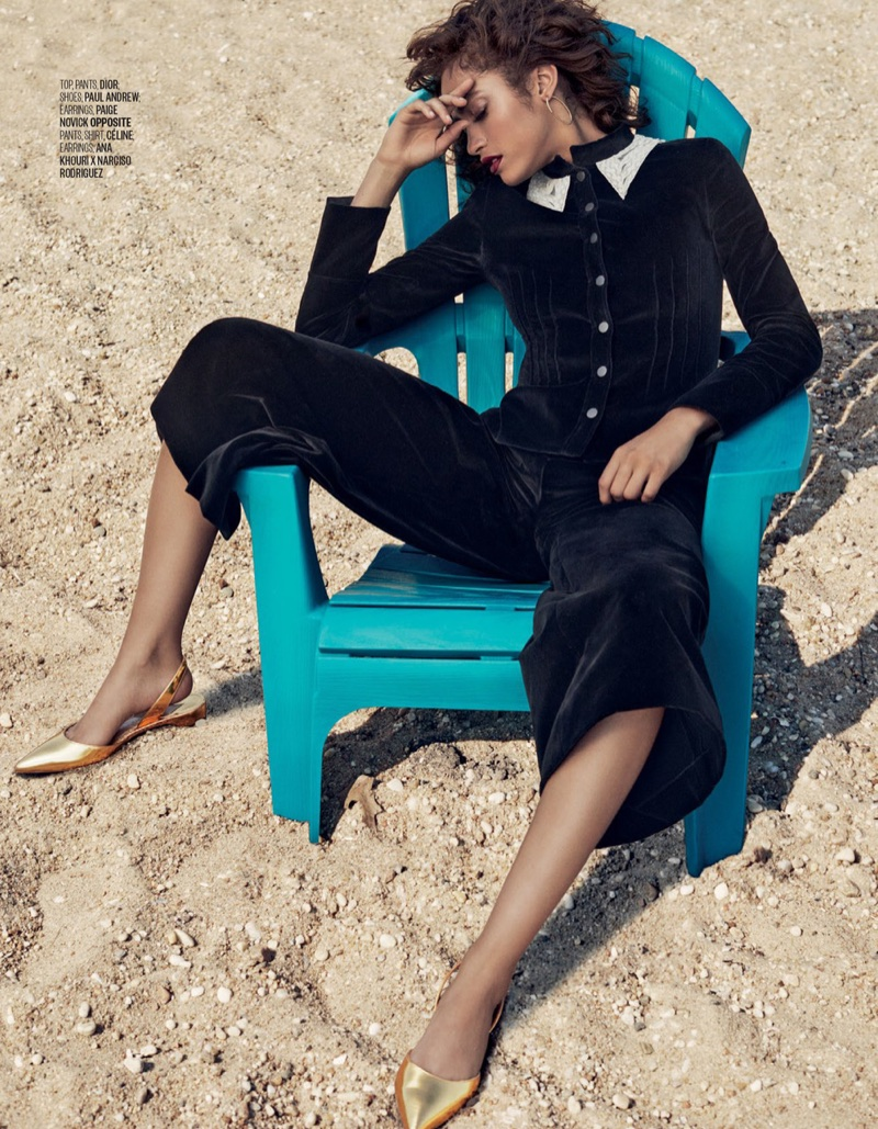 Alanna Arrington Models the Pre-Fall Trends in Vogue Arabia