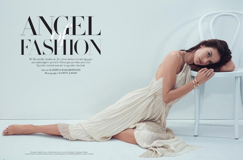 Alessandra Ambrosio Models Effortless Styles for Harper's Bazaar Greece