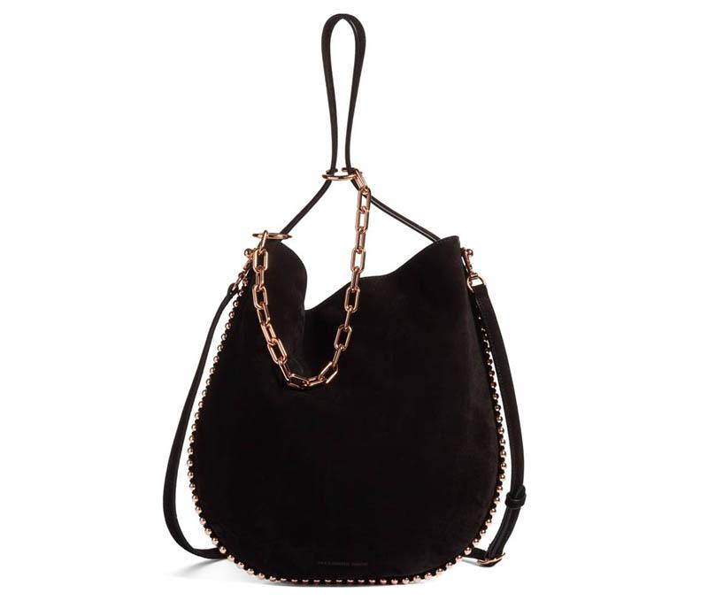 Alexander Wang Roxy Suede Hobo Bag $695