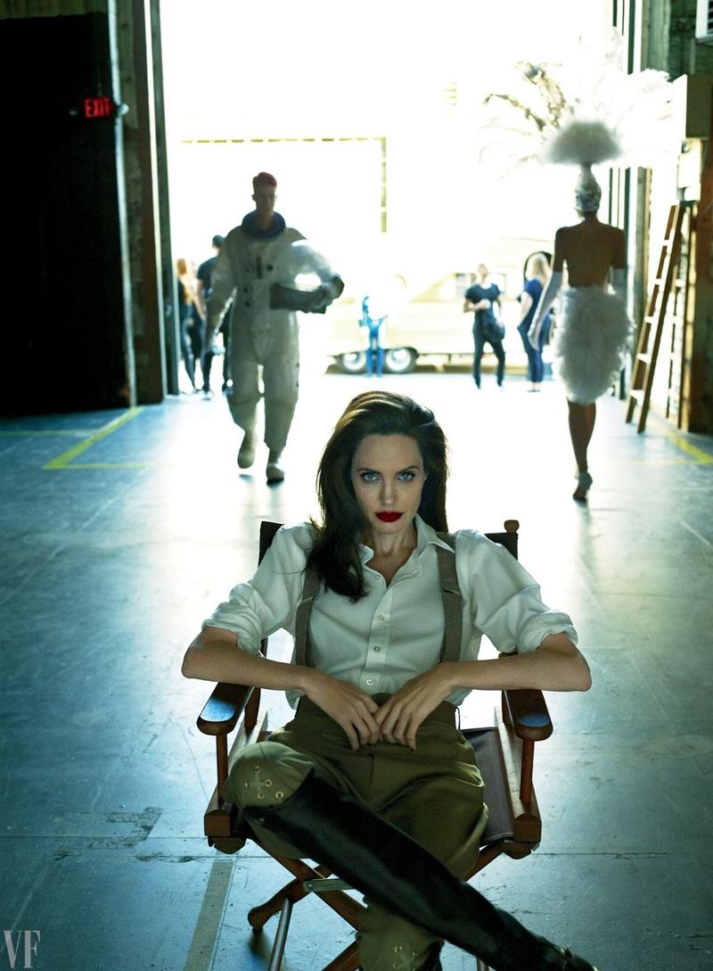 Angelina Jolie Dazzles For Vanity Fair Talks Brad Pitt