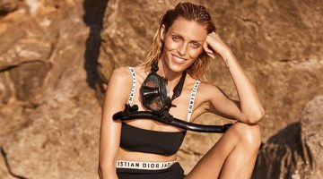 Anja Rubik Poses in Swim Season Looks for Viva! Magazine