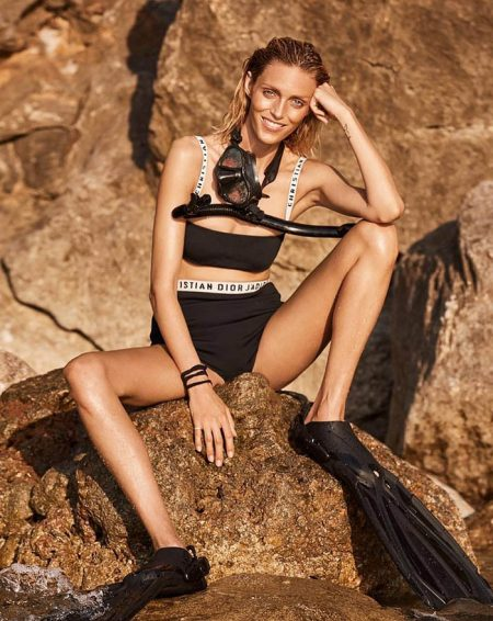 Anja Rubik Poses in Swim Season Looks for Viva! Magazine
