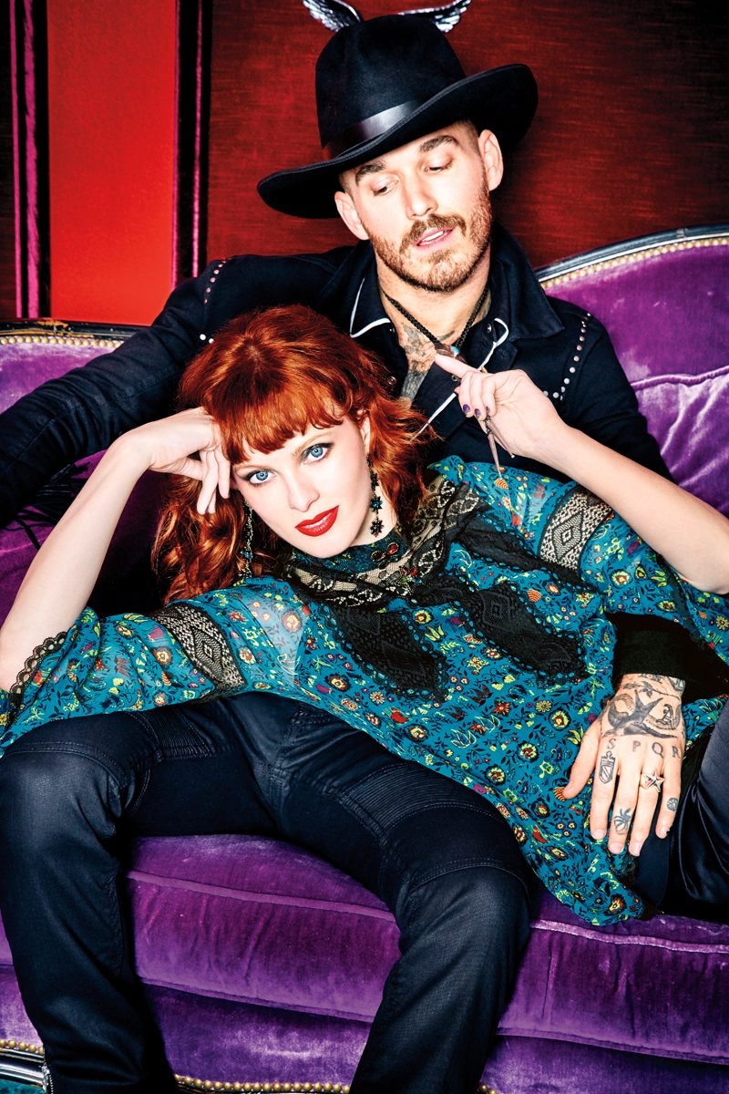Anna Sui channels cowgirl chic for INC fall 2017 collaboration