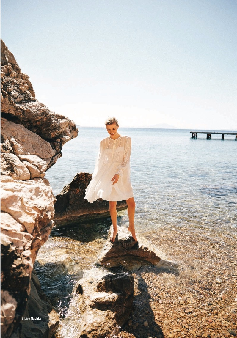Anouk Sanders Wears All-White Looks for Harper's Bazaar Turkey