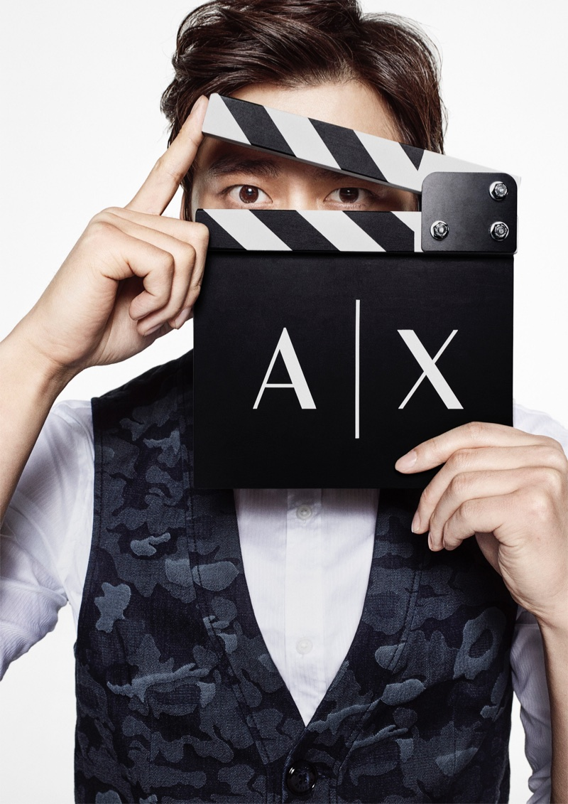 Chinese actor Li Yifeng fronts |X Armani Exchange's fall-winter 2017 campaign