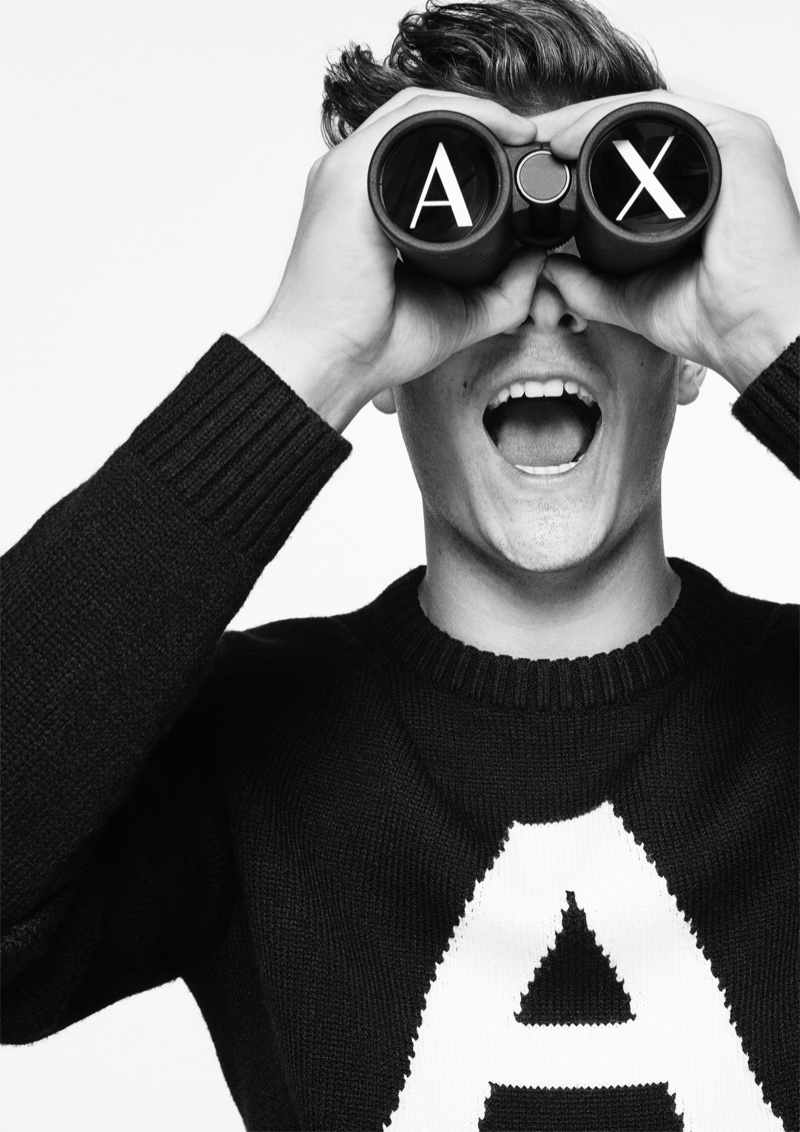 Mark Garrix stars in A|X Armani Exchange's fall-winter 2017 campaign