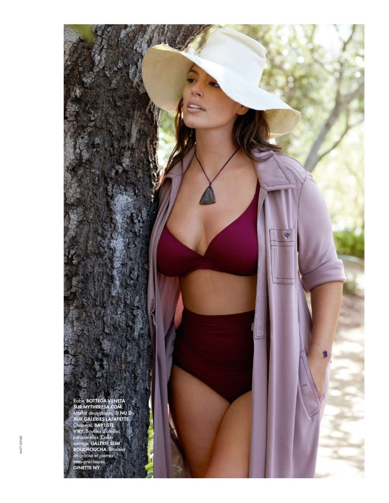 Ashley Graham Flaunts Her Curves in ELLE France Cover Story