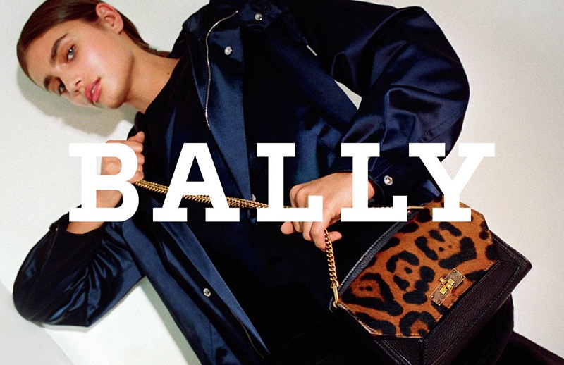An image from Bally's fall 2017 campaign starring Taylor Hill