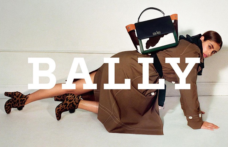 Model Taylor Hill fronts Bally's fall-winter 2017 campaign