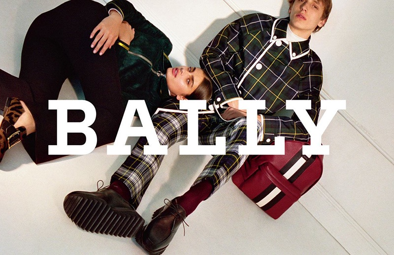 Taylor Hill and Antoine Duvernois star in Bally's fall-winter 2017 campaign