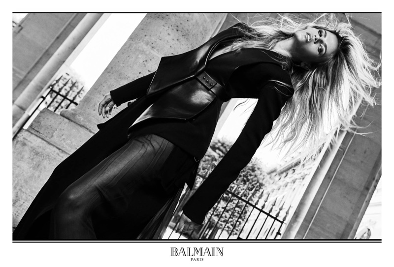 An image from Balmain's fall 2017 advertising campaign