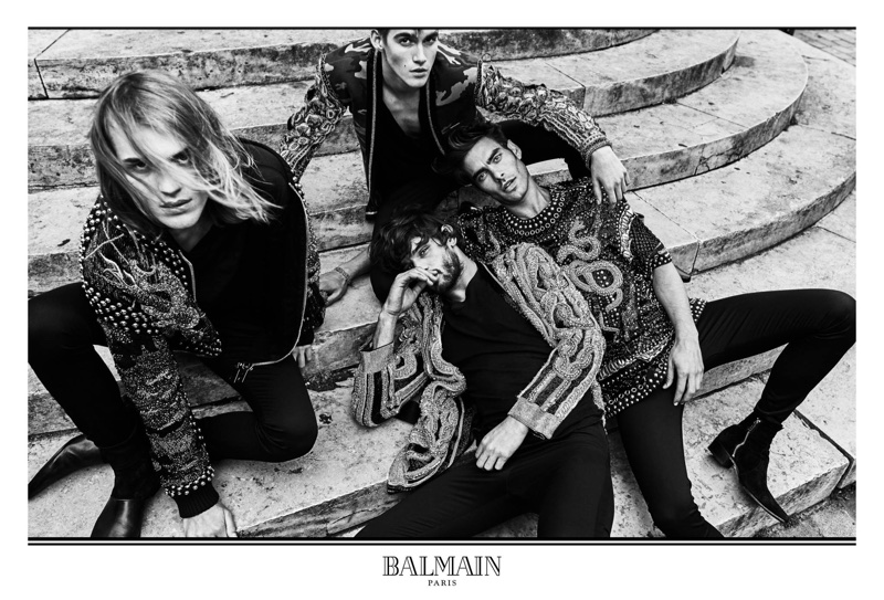 Olivier Rousteing photographs Balmain's fall 2017 advertising campaign