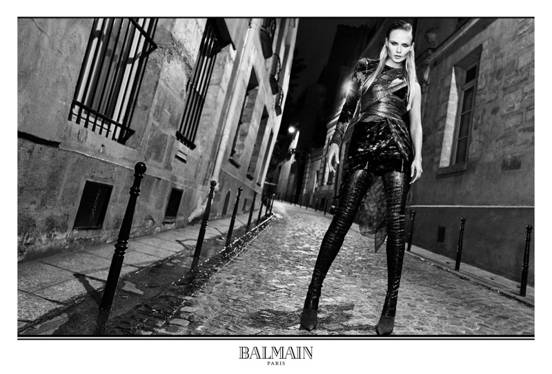 Natasha Poly channels her inner glamazon for Balmain's fall-winter 2017 campaign