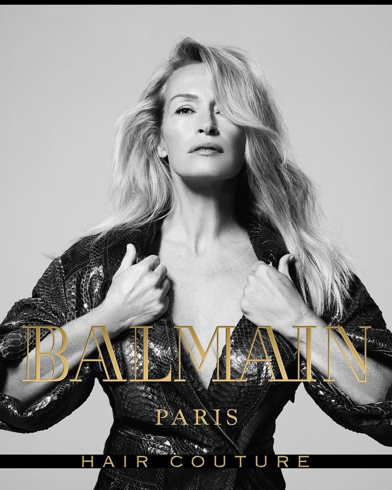 Estelle Lefebure stars in Balmain Hair Couture's fall-winter 2017 campaign