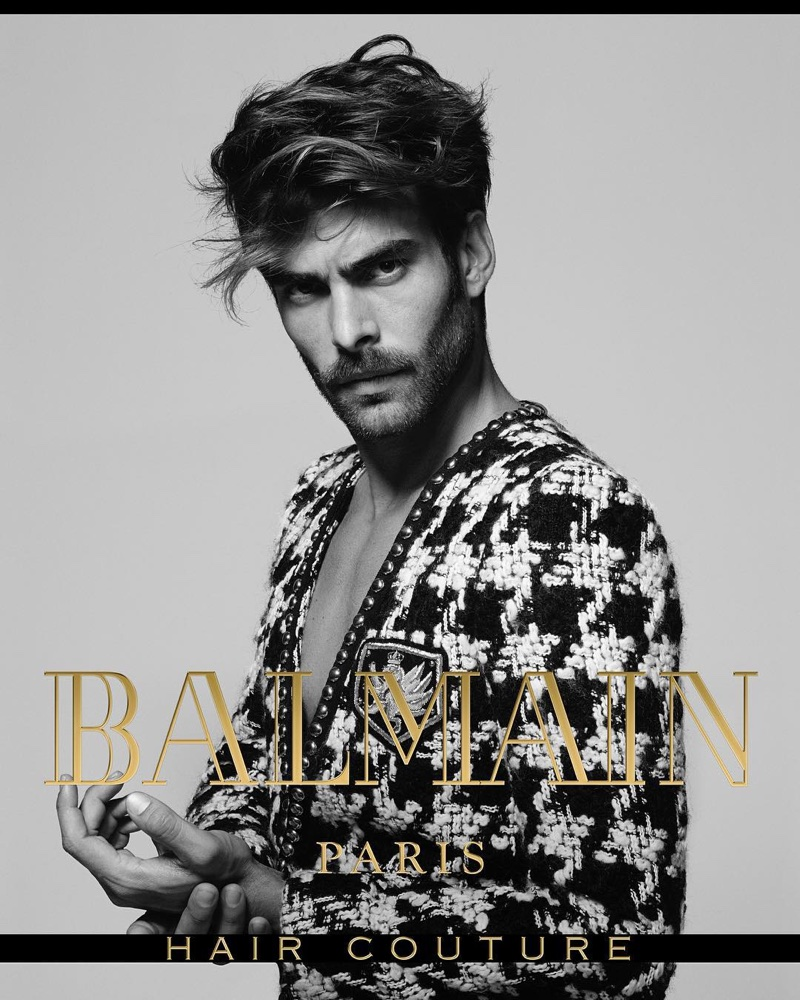 Jon Kortajarena stars in Balmain Hair Couture's fall-winter 2017 campaign