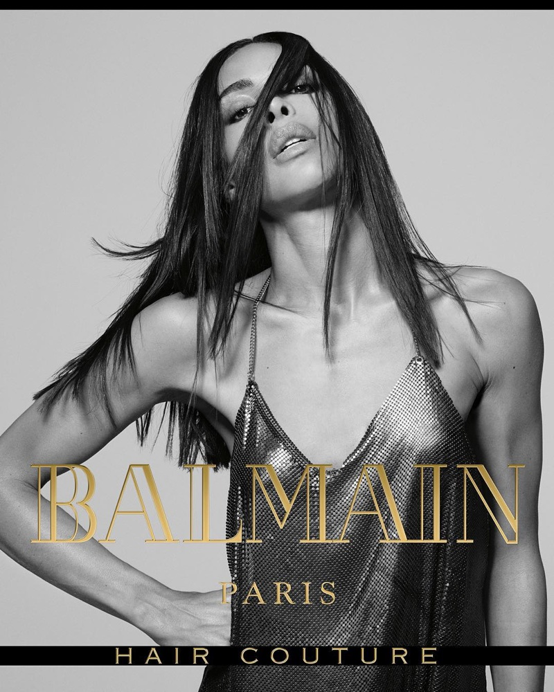 Ines Rau fronts Balmain Hair Couture's fall-winter 2017 campaign