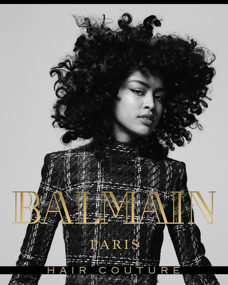 Luz Pavon stars in Balmain Hair Couture's fall-winter 2017 campaign