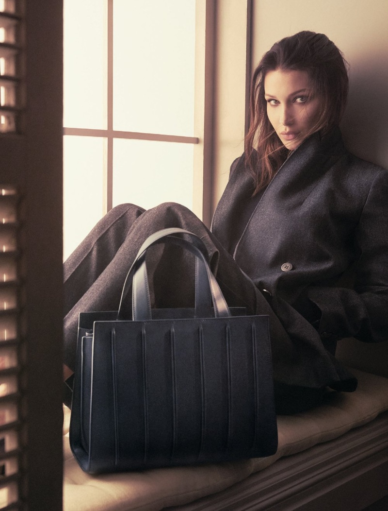 Bella Hadid stars in Max Mara Accessories fall-winter 2017 campaign