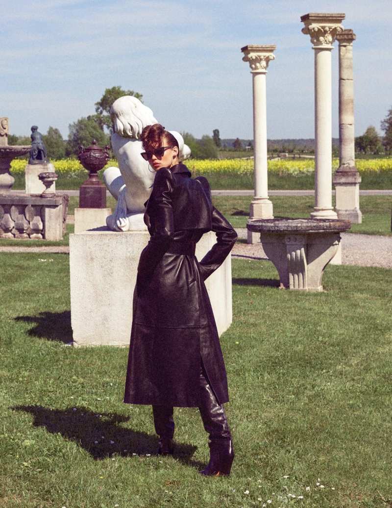Birgit Kos is a Femme Fatale in Vogue Russia Cover Story