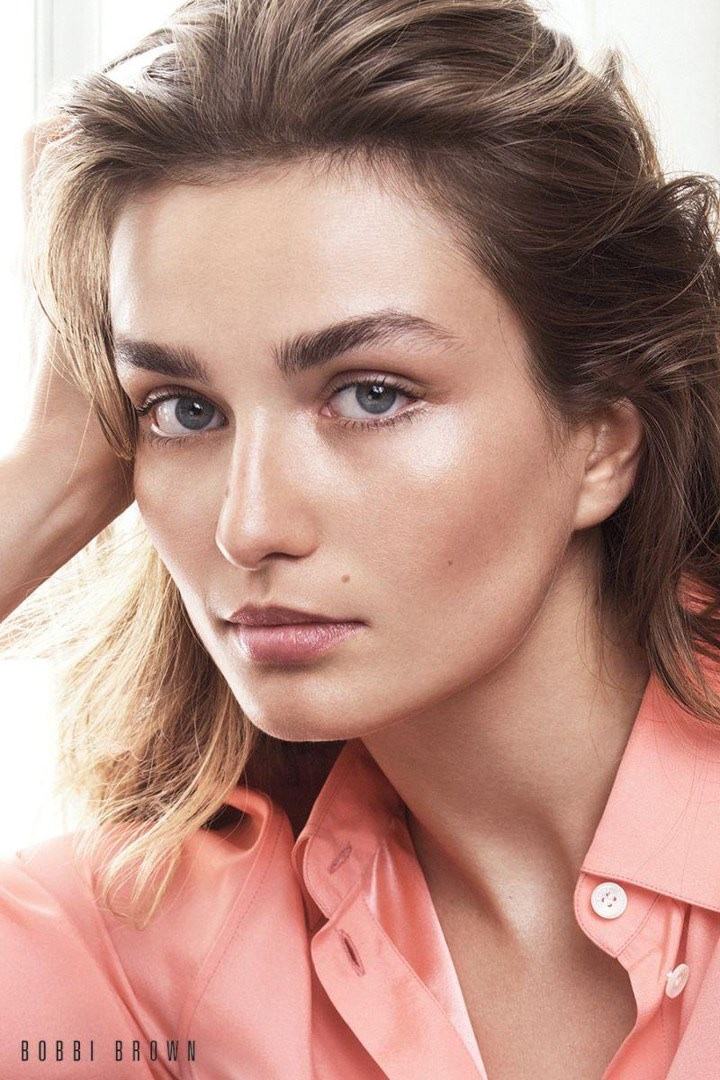 Andreea Diaconu has a luminous glow in Bobbi Brown Cosmetics' fall 2017 campaign