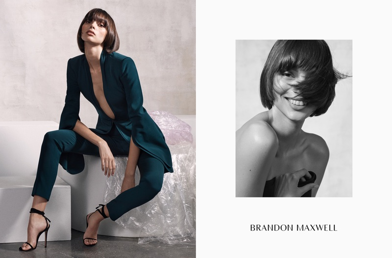 Charlee Fraser fronts Brandon Maxwell's fall-winter 2017 campaign