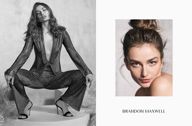 Andreea Diaconu fronts Brandon Maxwell's fall-winter 2017 campaign