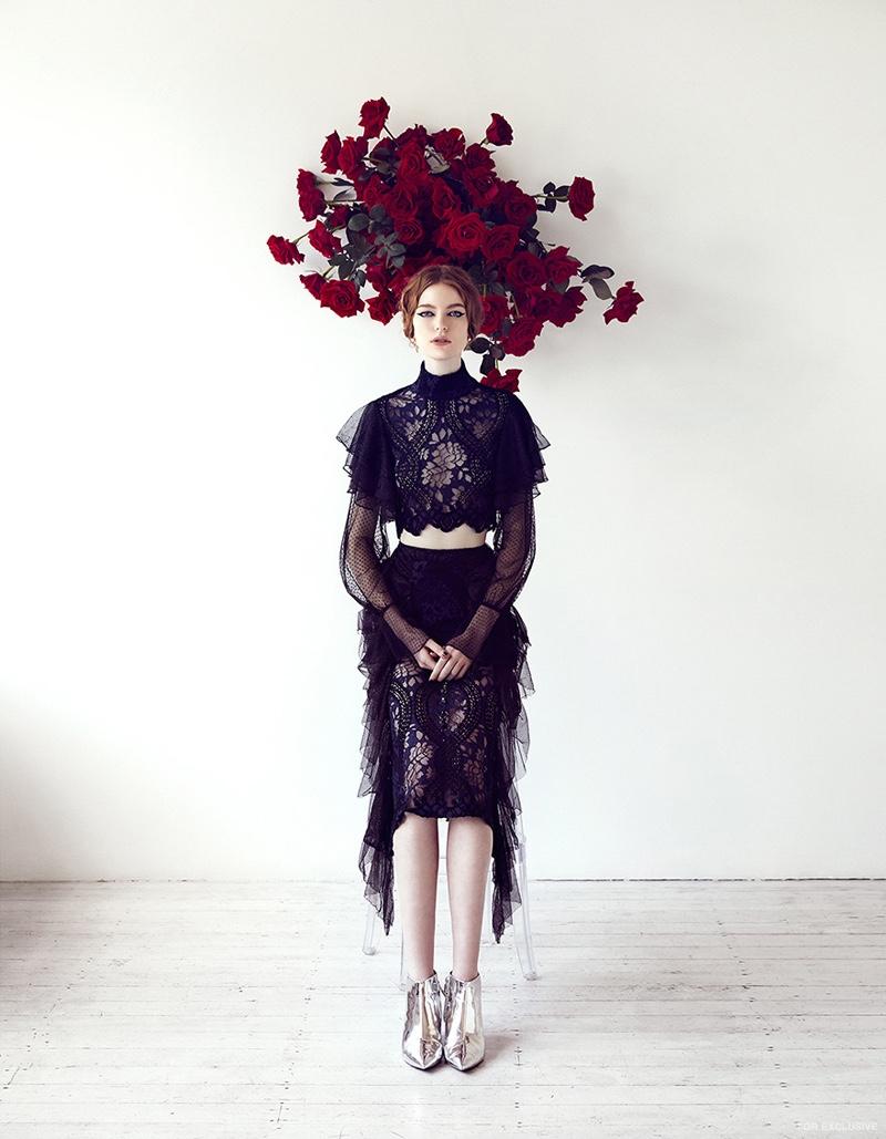 Asilio Top and Skirt; Zara Boots