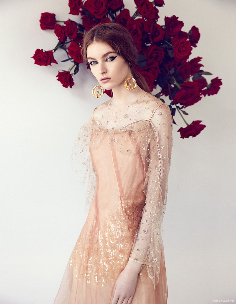 Alice McCall Dress (worn underneath), Akira Sequin Tulle Dress and Earrings stylist's own