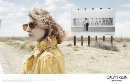 Julia Nobis stars in Calvin Klein 205W39NYC 's fall-winter 2017 campaign