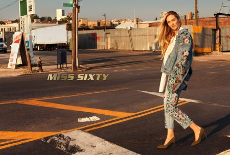 Candice Swanepoel stars in Miss Sixty's fall-winter 2017 campaign