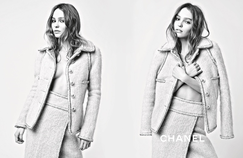 Lily-Rose Depp goes topless in Chanel's fall-winter 2017 campaign