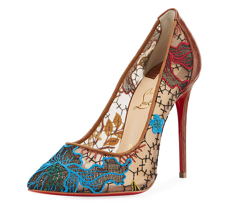Christian Louboutin Follies Lace Red Sole Pump $795