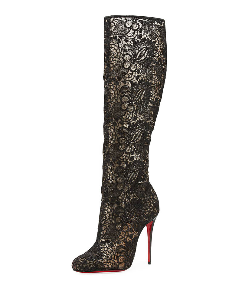 Christian Louboutin Tennissima Net Lace Red Sole Boot $1,295