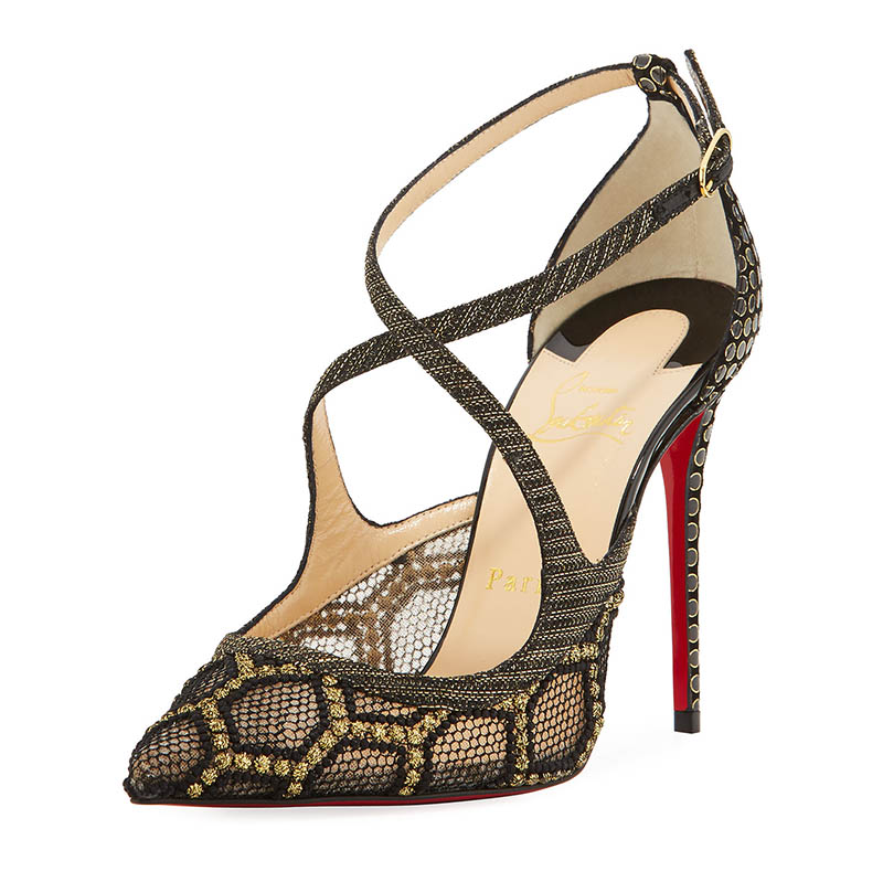 Christian Louboutin Twistissima Crisscross Red Sole Pump $895