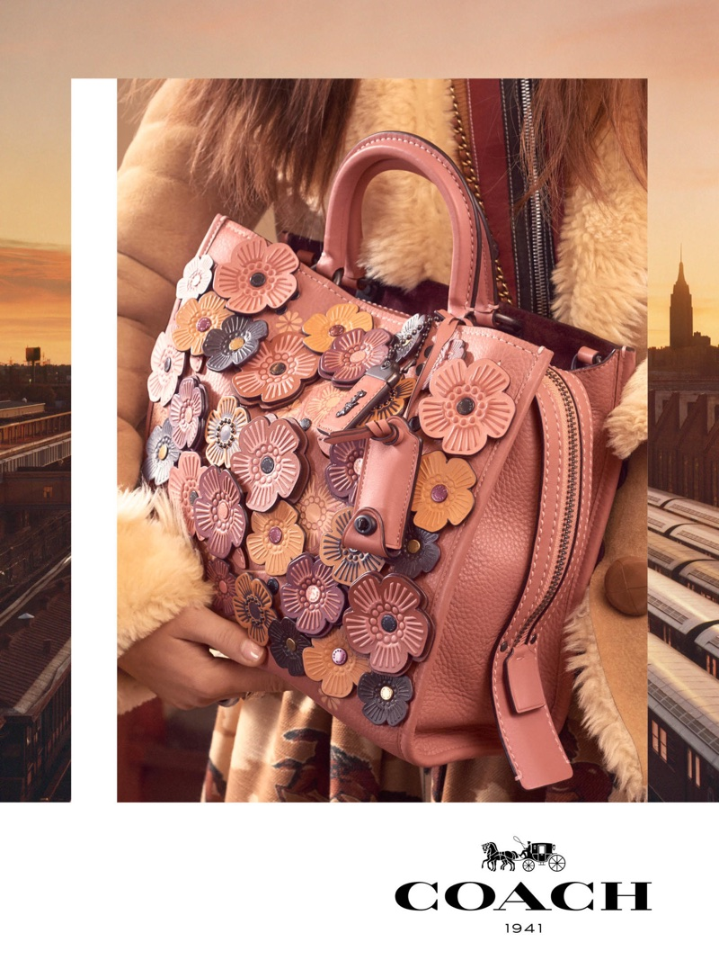 Floral embellishments take the spotlight in Coach's fall-winter 2017 campaign