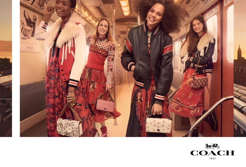 Coach captures its fall-winter 2017 campaign on the subway