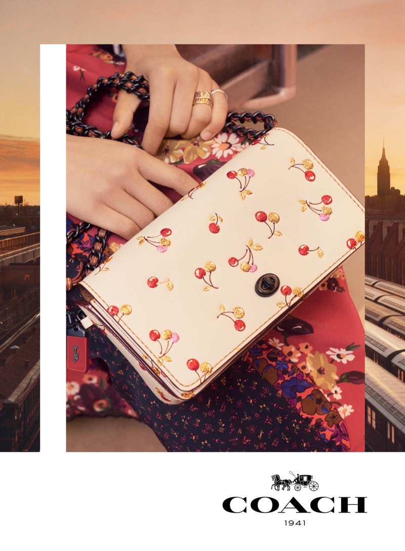 Cherry prints stand out in Coach's fall-winter 2017 campaign