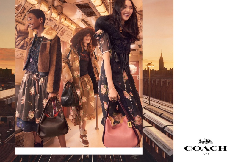 Models are all smiles in Coach's fall-winter 2017 campaign