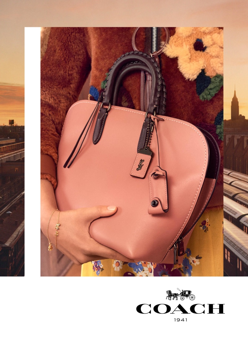 Coach embraces pink hues with its fall-winter 2017 campaign