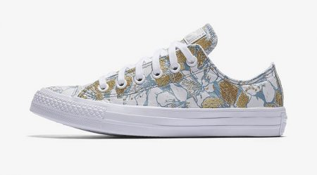 Converse x Patbo's sneaker collaboration features floral embroidery